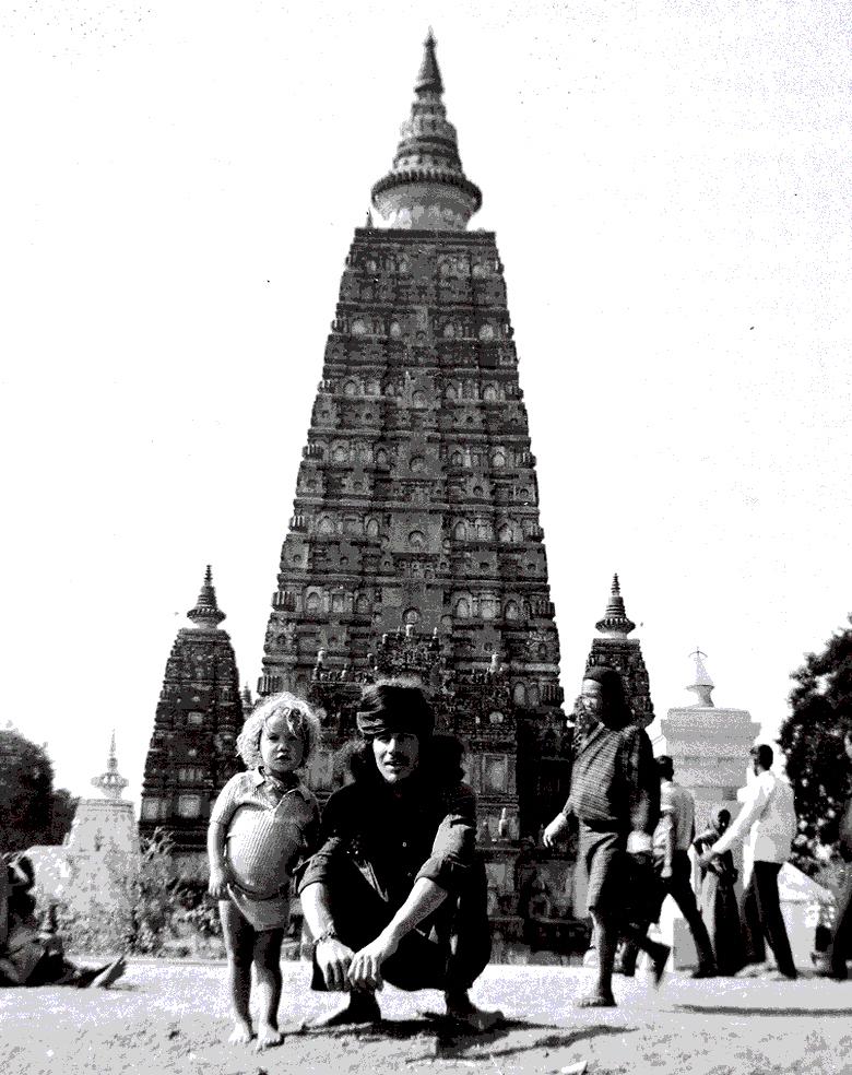 007.INDIA,Andres,Odin,BodhGaya 1974.(kopia)