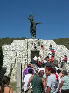 Carrera a Ixcateopan con Danzantes Sol