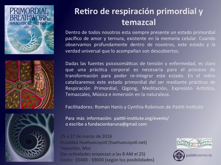 Poster retiro en HH de Paititi Institute